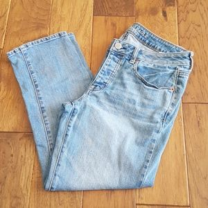 American Eagle Outfitters Boy Crop Stretch Size 8